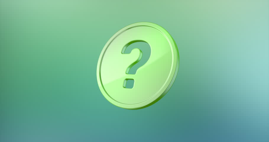 Animated Question Badge Color 3d Icon Loop Modules for edit with alpha matte | Shutterstock HD Video #19796047
