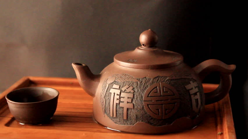 Stock Video Clip Of The Action Of Traditional Chinese Tea