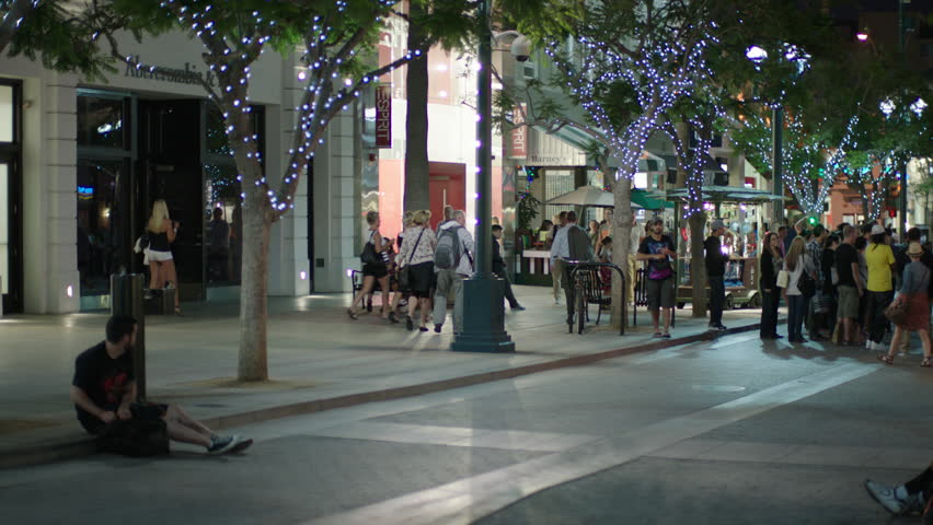 3rd Street Promenade Hours >> Magic Hour Right Night Pan Stock Footage Video 100 Royalty Free