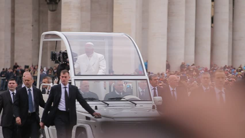 Apr 28 2015: Pope and the Vatican in the Car