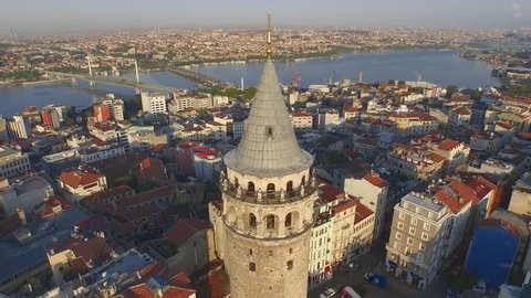 galata tower in istanbul, istanbul galata kulesi, galata kulesi ve halic, galata tower with golden horn, golden horn