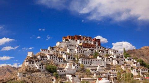 4K Timelapse Thiksey Monastery, Leh Ladakh, Jammu and Kashmir, India