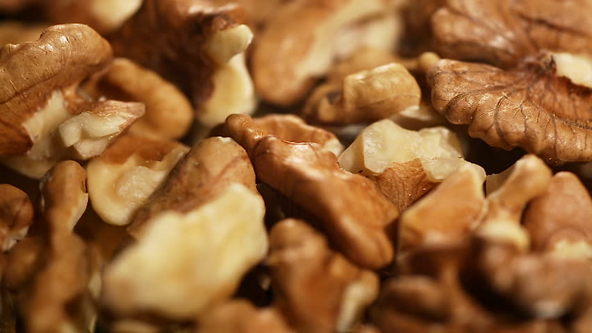 Processed walnuts stored in proper conditions, food product prepared for export