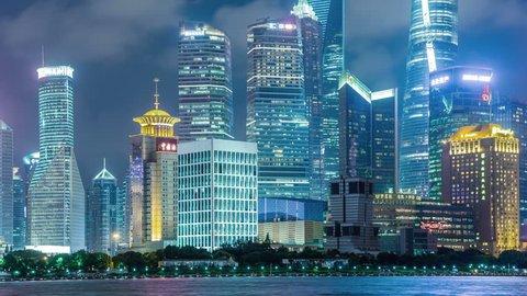 SHANGHAI - CIRCA AUG 2016: Time lapse of Shanghai Pudong viewed,circa AUGUST 2016 in Shanghai, China.