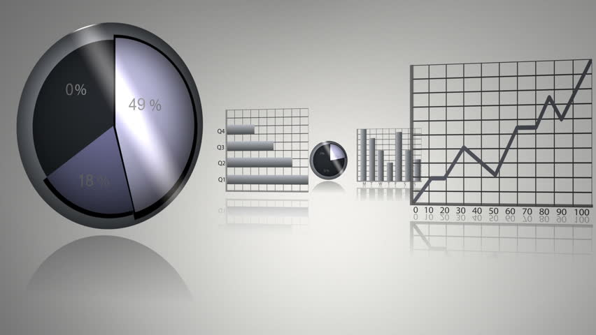 Montage about animated statistics against a grey background   Shutterstock HD Video #1992250
