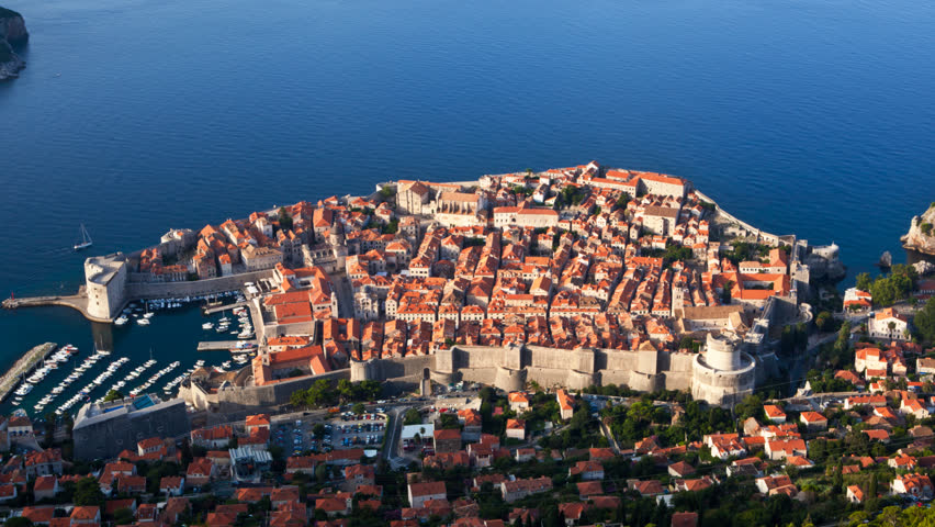 Early morning time lapse shot, Dubrovnik old city. Just before sunrise.