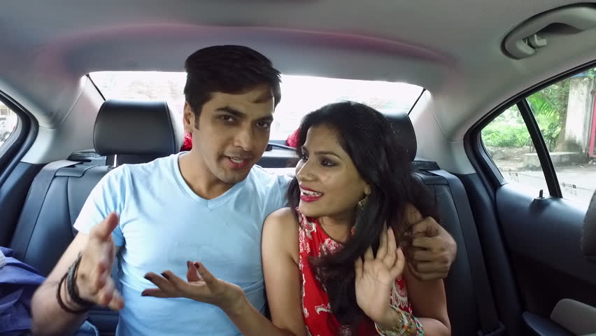 Young Indian Happy Couple Inside Stock Footage Video 100 Royalty