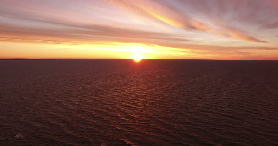 Landscape.Sunset over the sea. The video was filmed in 4K with drone.   Shutterstock HD Video #20014666