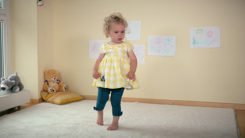 Hyperactive toddler girl fast moving | Shutterstock HD Video #20029027