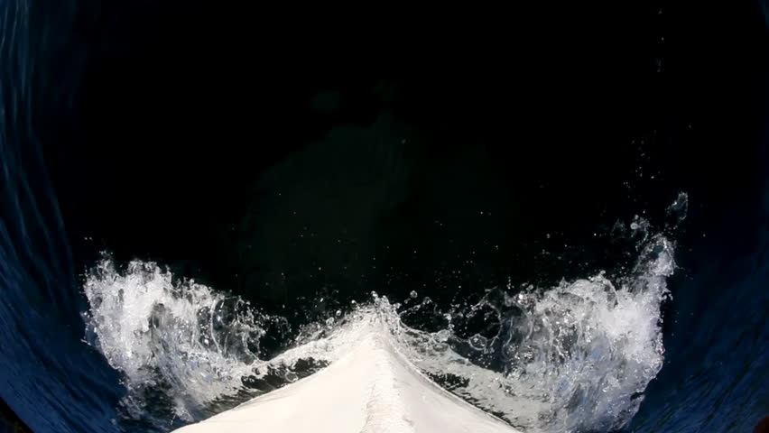 Fish eye shot from boat. Location: Croatia near Dubrovnik, Europe.