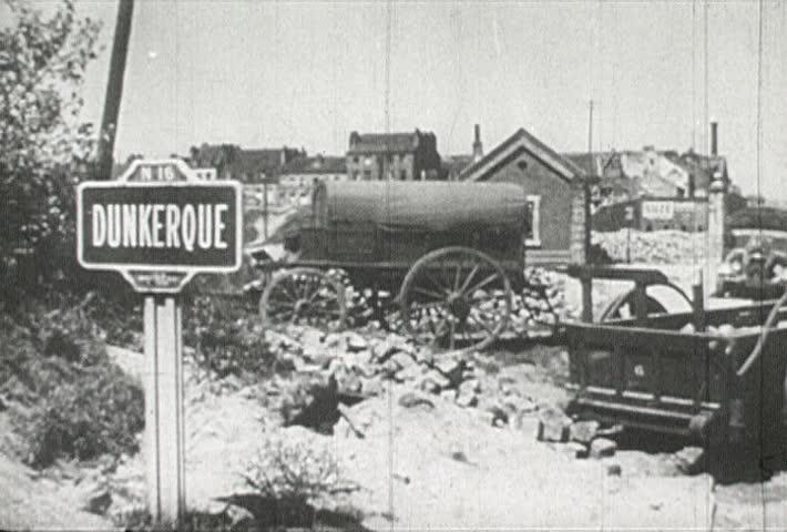 EUROPE - CIRCA 1942-1944: World War II, Dunkerque Burns
