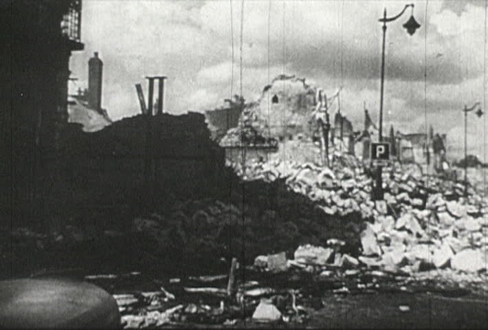 FRANCE- CIRCA 1942-1944: World War II, Rubble of France