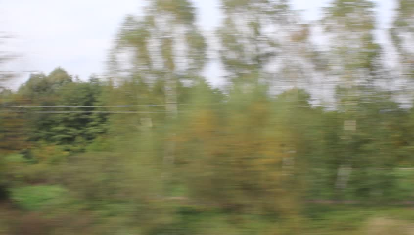 The view from the train window. Poland. The road from Przemysl to Krakow | Shutterstock HD Video #20148166