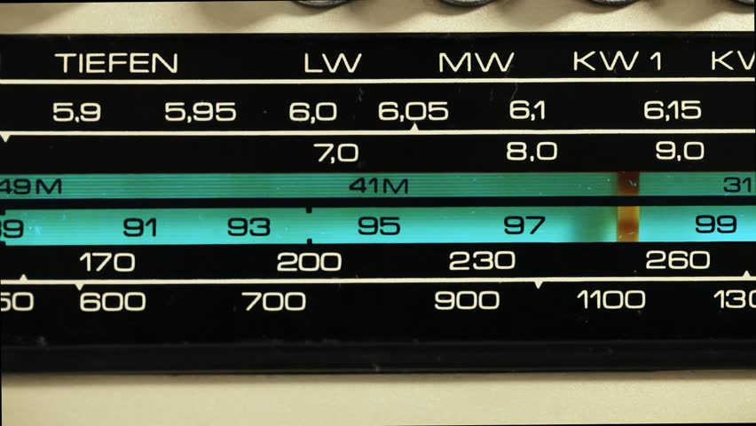 Tuning dial of the transistor radio