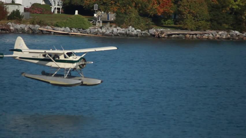 Plane Landing on Water
