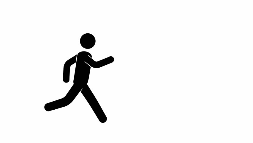 Pictogram man runcycle.