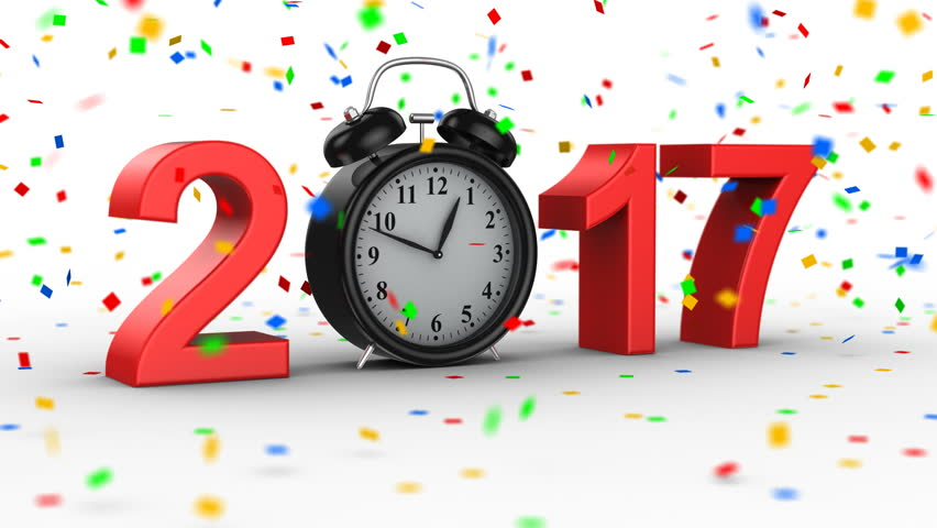 New Year 2017. White background, 4 in 1, created in 4K, 3d animation | Shutterstock HD Video #20301286