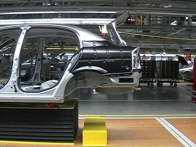 car factory, assembly belt