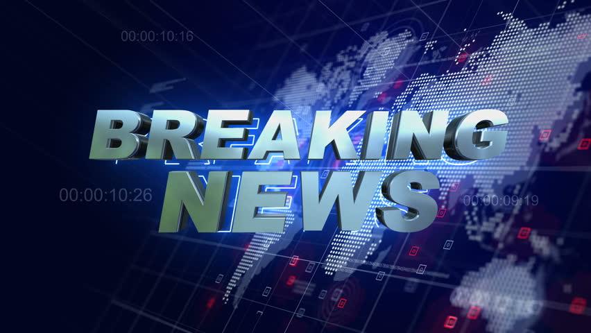 Breaking News 3D Motion Graphics World Map Blue Background 4K | Shutterstock HD Video #20332846