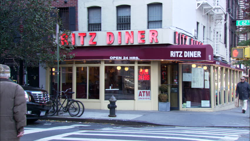 day hold caddy corner corner right itz Diner small restaurant cafe red canopy neon lights & Day Hold Caddy Corner Corner Right Itz Diner Small Restaurant Cafe ...