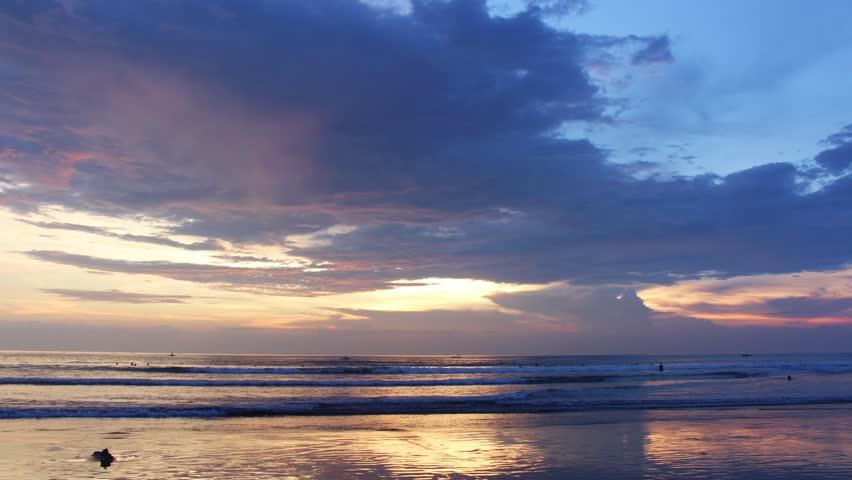Timelapse Sunset Kuta Beach Bali Indonesia  #20363086