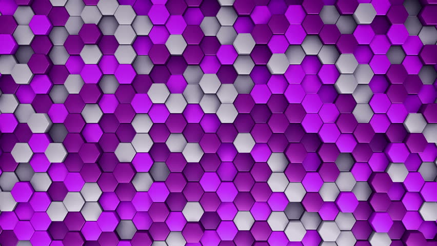 Abstract background with animation of wave mosaic of hexagons. Technological backdrop. Animation of seamless loop. | Shutterstock HD Video #20434234