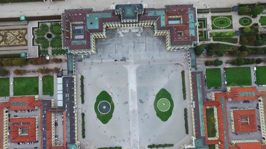 VIENNA, AUSTRIA - OCTOBER 08, 2016: Schonbrunn Palace in Vienna. Rococo summer residence in modern Wien