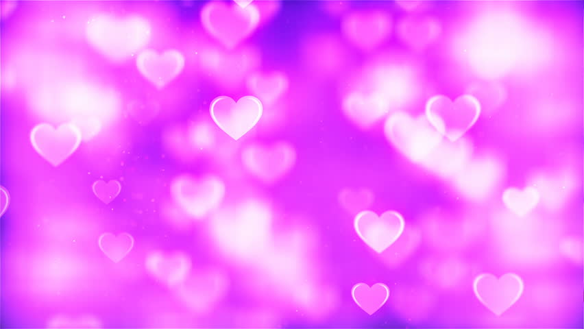 Animated Background Featuring Pink And Purple Heart