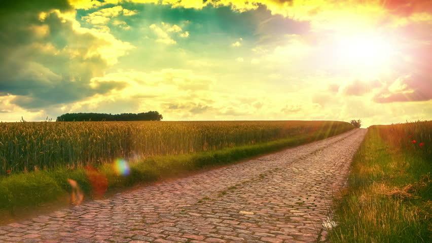 Walking in country road at stock footage video 100 royalty free 20441206 shutterstock - Background images 4k hd ...