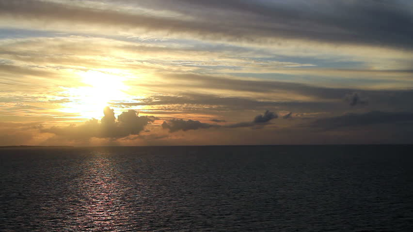Sunset on the open seas | Shutterstock HD Video #2046356
