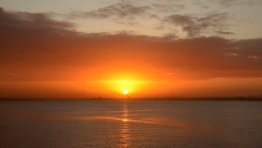 sunrise on the ocean in the Canary Islands