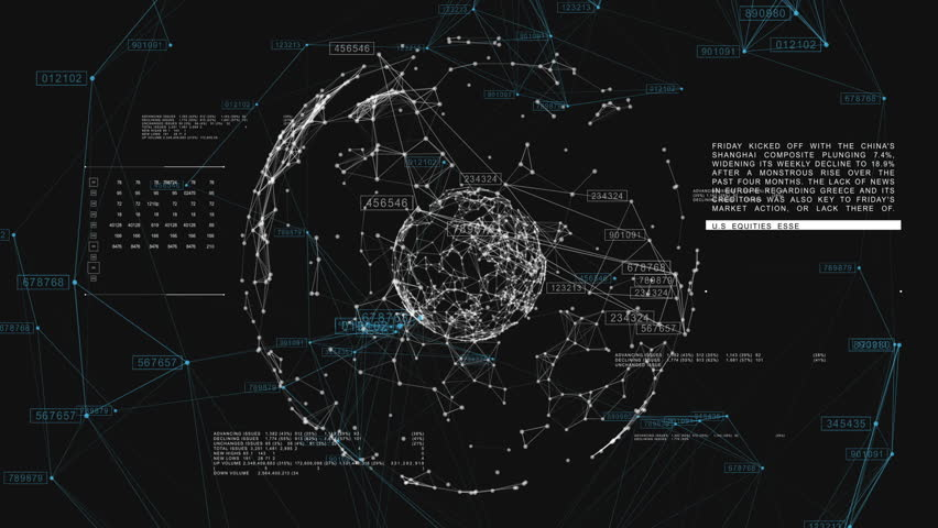 3d seamless animation of Global Business Network rotating in Space. Scientific Concept. Looped. HD 1080. | Shutterstock HD Video #20505250