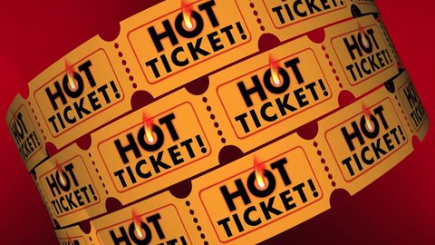 Hot Ticket Popular Event In Demand Admission Entry 3d Animation
