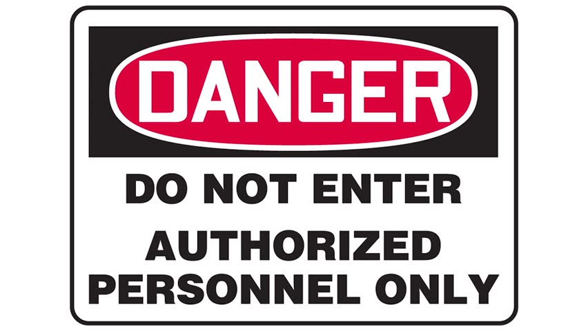 photograph regarding Authorized Personnel Only Sign Printable identified as Footage of an Do Not Inventory Footage Online video (100% Royalty-totally free) 20552146  Shutterstock