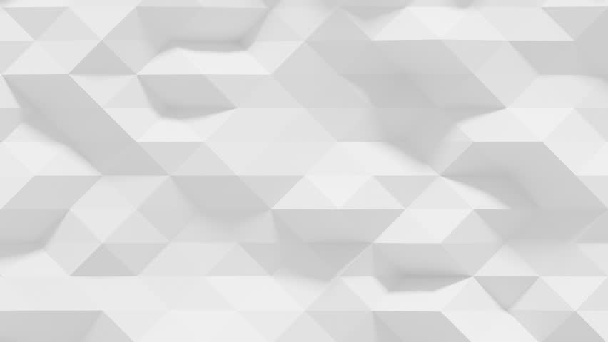 Abstract Polygonal Geometric Surface Loop 1A: clean soft low poly motion background of shifting pure bright white grey triangles, seamless loop 4K UHD, FullHD.  | Shutterstock HD Video #20559346