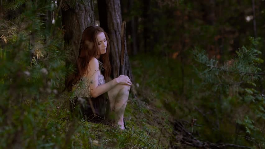 naked girl left in wood alone