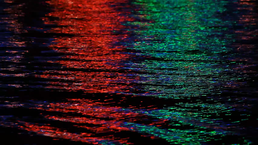 Reflection in the water multicolored lights #2065586