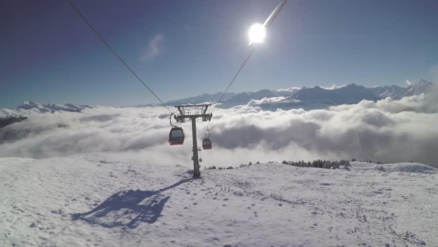 Winter Cable Car in Salzburg Austria - Gondola #20678416