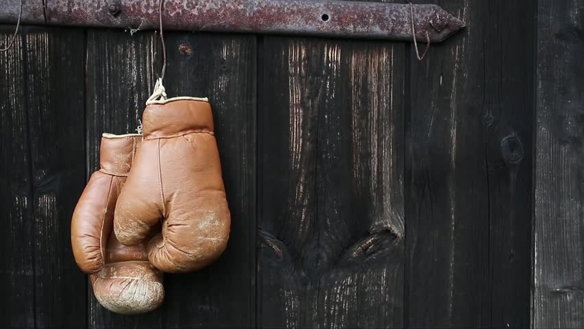 Boxing gloves hanging on the rustic door. Dolly shot. - HD stock footage clip & Boxing Gloves Hanging On Old Wooden Door. Dolly Shot. Stock ... Pezcame.Com