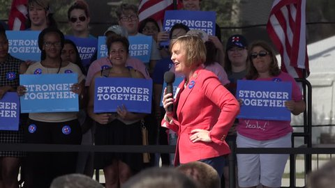 Florida Congresswoman Kathy Castor Talks About Women Across The Country At Hillary Clinton Rally In Tampa Florida At Curtis Hixon Park 10/26/2016 With Audio