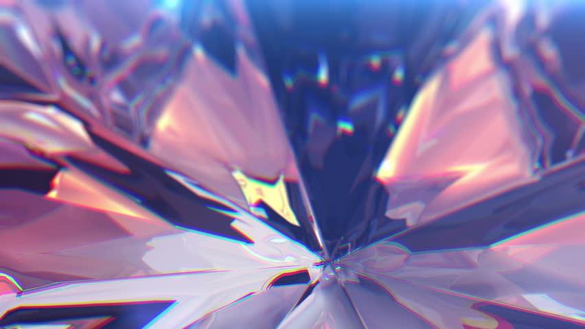 Slow rotating around the diamond, beautiful background.  4k, close-up, seamless loop.