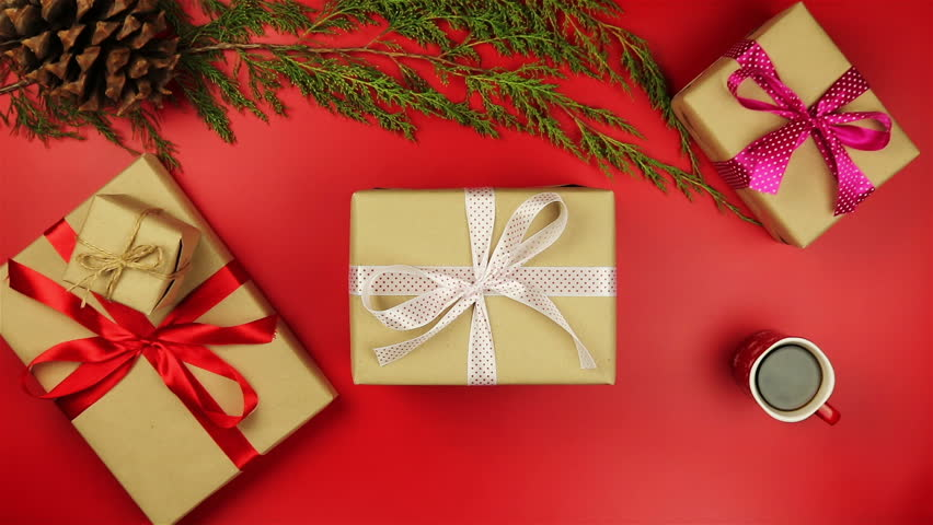 Christmas Top View.Top View Hands Unwrapping Christmas Stock Footage Video 100 Royalty Free 20882716 Shutterstock