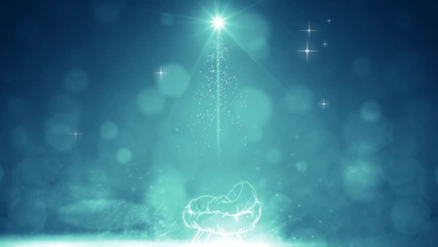 Christmas Nativity Motion Background Baby Stock Footage Video 100