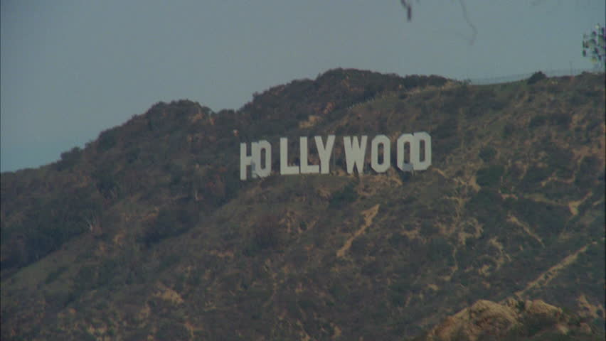 Day Tilt Up Hollywood Sign Stock Footage Video 100 Royalty Free