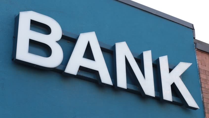 Bank word sign | Shutterstock HD Video #20985496
