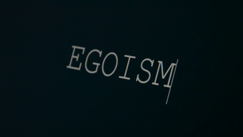 Header of egoism