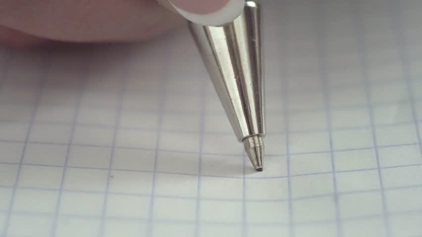 Pen writes a letter on paper. Closeup. Shallow depth of field | Shutterstock HD Video #21004441