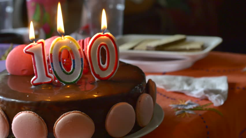 A Hundred Years Old Woman Celebrating Her Birthday, Centenarian