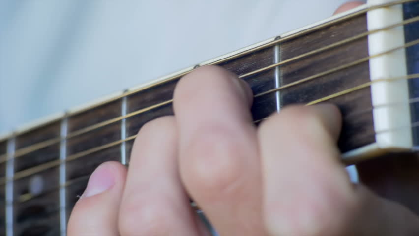 Stock Video Clip of Man Playing Acoustic Guitar. Playing on acoustic ...
