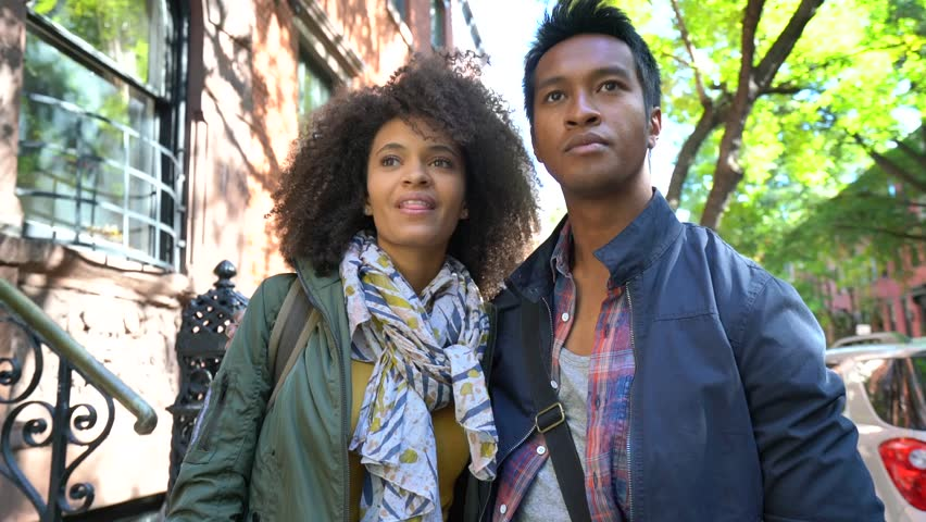 Trendy in love couple visiting Greenwich village, New York City | Shutterstock HD Video #21131776